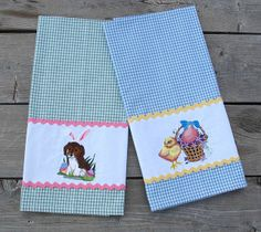 Easter dish towels for Crys, 4-10-14
