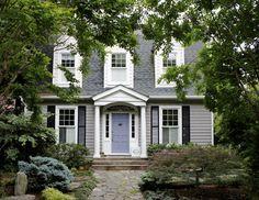 #purple #exterior #cottage #color