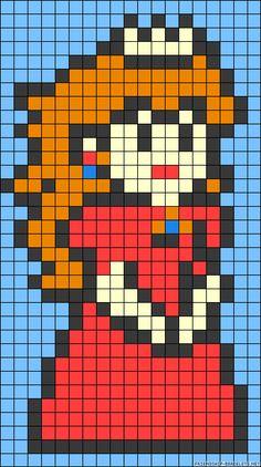 Princess Peach perler bead pattern
