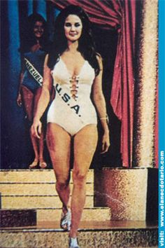 Wonder Woman actress/model Lynda Carter as a beauty pageant contestant.
