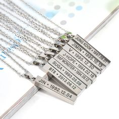 KPOP Bangtan Boys BTS SUGA JIMIN JUNG KOOK V JIN JHOPE Rap Monste Steel Necklace | Entertainment Memorabilia, Music Memorabilia, Other Music Memorabilia | eBay!