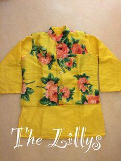 Floral yellow Kids Dress Wear, Men Dress, Kids Kurta, Kids Indian Wear, Kids Wear Boys, Wedding Dresses For Kids, Baby Boy Dress, Fancy Blouse Designs, Kids Frocks