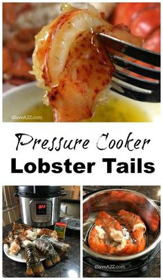 Lobster Tails steamed in my Pressure Cooker! - - Lobster Tails steamed in my Pressure Cooker! Instant Pot & Crock-Pot Pressure Cooker Lobster Tails with Butter Sauce -KETO FRIENDLY Power Pressure Cooker, Instant Pot Pressure Cooker, Pressure Cooker Recipes, Pressure Cooking, Pressure Pot, Lobster Recipes, Seafood Recipes, Cooking Recipes, Steamed Lobster
