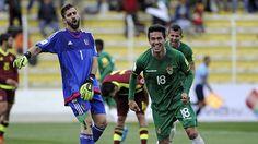 Bolivia venció 4-2 to Venezuela. Noviembre 12, 2015.