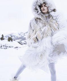 Ophélie Guillermand by Nathaniel Goldberg for Harper's Bazaar US October 2014 1
