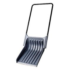 Suncast Big Scoop Snow Shovel with Wear Strip: Snow float with collapsible one-piece steel handle for easy storage.
