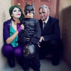 Batman and villains | 32 Family Halloween Costumes That Will Make You Want To Have Kids