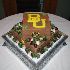 #Baylor groom's cake from Designs By D'Anne