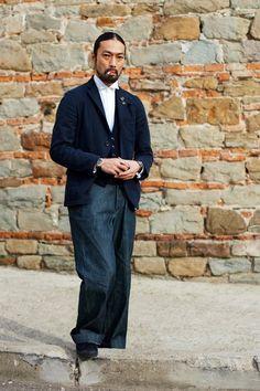 On the Street….Wing Collar, Pitti Uomo « The Sartorialist