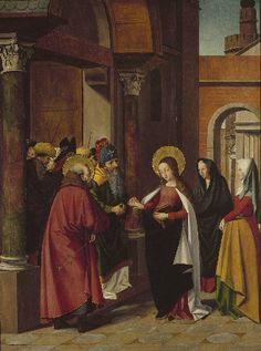 Josse Lieferinxe, Polyptyque de la Vierge : le mariage de la Vierge (Avinhon, 1493-1505, Musées royaux des Beaux-Arts de Belgique, Bruxelles)