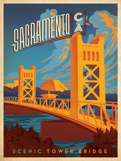 Nashville-based designer Joel Anderson had this print featured on the cover of Sactown magazine.