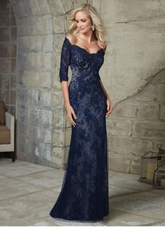 Trumpet/Mermaid Off-the-Shoulder Sweep Train Mother of the Bride Dress With Lace