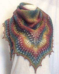 Ravelry: Triana shawl pattern by Sofia Khakimova Knitted Poncho, Knitted Shawls, Crochet Scarves, Crochet Clothes, Lace Shawls, Cozy Knit, Knit Cowl, Lace Knitting Patterns, Shawl Patterns