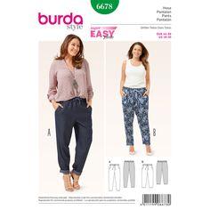 Hose, Burda 6678