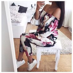 CLICK HERE http://www.youtube.com/channel/UCqEqHuax3qm6eGA6K06_MmQ?sub_confirmation=1 @thanyaw is beaut in our babe'in Amber Floral Off The Shoulder Set  30 shop from link in bio #misspap #ootd #style #misspapped by misspap