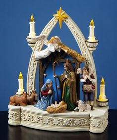 Loving this Candlelit Musical Nativity Figurine on #zulily! #zulilyfinds
