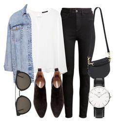 black jeans, denim jacket, boots, winter
