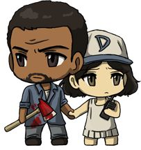 The Walking Dead. Lee and Clementine Chibi.