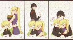 Yamanaka Family ♥♥♥ Ino, Sai and Inojin ♥ #Beautiful #Cute #Love #FanArt