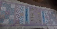 quilting-front view before washing.  Blue line will wash out
