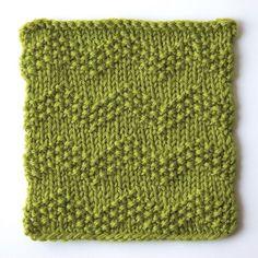 How to knit seeded chevron stitch: