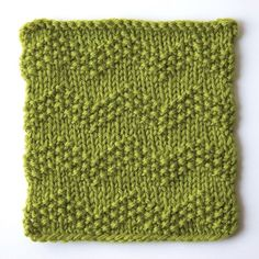 How to knit seeded chevron stitch:
