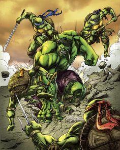#Hulk #Fan #Art. (Green versus Greens) By: BacchiColorist. [THANK U 4 PINNING!!]