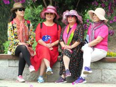 These Chinese tourists were observed visiting the Stone Forest at Shilin near Kunming, Yunnan, China. Kunming, Chinese, Stone, Fashion, Moda, Rock, Fashion Styles, Fashion Illustrations, Batu