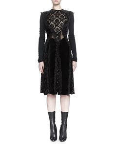 Devore Ruffle-Paneled Dress by Givenchy at Neiman Marcus.