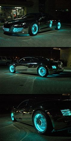 Customized Tron-Styled Audi R8