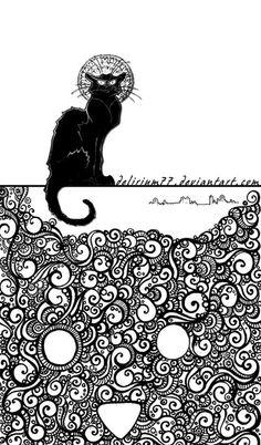 le chat noir by *vasodelirium on deviantART