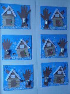 DIY sugar shack (credit Carole) ☘️ Visit your store of ar . Preschool Arts And Crafts, Kindergarten Activities, Preschool Activities, Diy And Crafts, Crafts For Kids, Sugar Bush, Penguin Art, Winter Theme, Winter Art