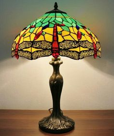 8a70dfdaf Tiffany Table Lamps, Louis Comfort Tiffany, Light Table, Stained Glass,  Bulb,