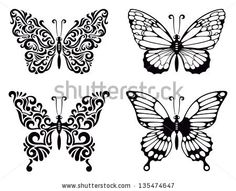 Vector set of butterflies, vector illustration by Alexey Pushkin, via ShutterStock
