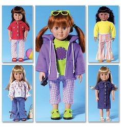 American Girl Clothes Patterns Free | DOLL CLOTHES PATTERN For American Girl Dolls / Great For Julie -Saige ...