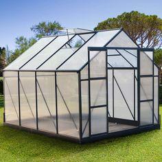 """Serre Jardin Polycarbonate Luxe """"Gloria"""" Vert 9 m2 - 6 mm"""