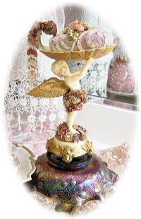 Cherub Soap Dish - Victorian Rose Cottage