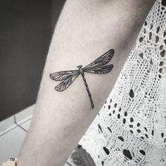 Dotwork Dragonfly Tattoo on Forearm   Best Tattoo Ideas Gallery