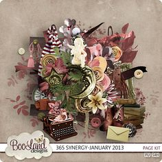 365 Synergy January Page Kit by #BooLand Design $4.97