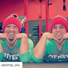 #Repost @danimal_okc with @repostapp  If you're not #twinning you're not #winning!  #twinningiswinning #twinsies #twins #crossfitlandrush #CrossFit #fittestinok #cflr Photo Credit to @5milespastempty by thepebbleokc