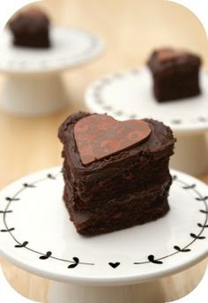 Chocolate Valentine Heart Cakes