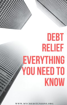 Debt Relief | Everything You Need to Know There are five types of debt relief programs. They are a Debt Consolidation Loan, Balance Transfer, Debt Management Plan, Debt Negotiation (or debt settlement) and Bankruptcy.