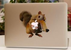 Ice age squirrel vinyl sticker for macbook 13' 15'  This looks great, huh?