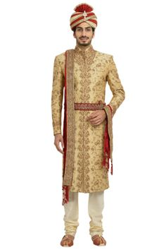 Buy Stylish Sherwani with the Touch of Golden Sequin work from the Virat Collection. Grab the latest range of Indian Ethnic & Wedding wear online by Manyavar. Sherwani For Men Wedding, Sherwani Groom, Wedding Men, Ethnic Wedding, Indian Ethnic, Wedding Designs, Perfect Fit, Sequins, Mens Fashion