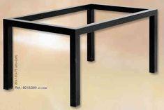 Mesa de forja de diseño minimalista de medidas 120x80cm por 242€. consíguela en www.rustiluz.com  #mesa, #forja, #hierro, #forjado, #decoracion, #rustica, #comedor