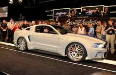 """This 2013 Ford Mustang used in the new """"Need For Speed"""" movie sold for $300K at last weekend's Barrett-Jackson auction. (Photo: Tom Jensen)"""