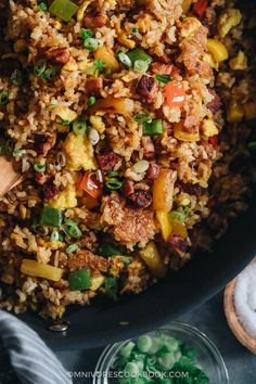 Turn your leftover ham into a quick meal that tastes better than Chinese takeout. Learn all the secrets to creating the best fried rice without a wok. {Gluten-Free}