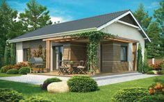 Plano de linda casa estilo chalet con 2 dormitorios