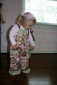 My sweet baby and one of my first sewing projects- still love this little pillowcase romper!