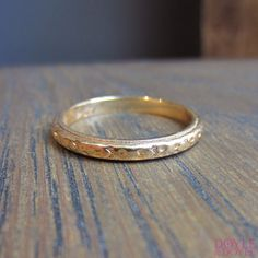 Vintage Gold Wedding Band from Doyle & Doyle